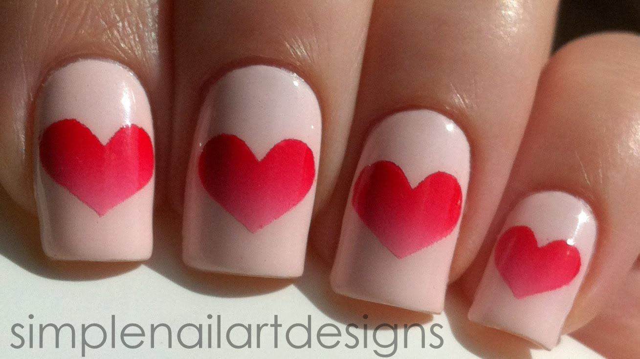 - 30 Lovable Heart Nails Nail Design Ideaz