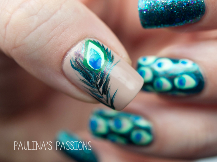 32 Heavenly Feather Nails Nail Design Ideaz
