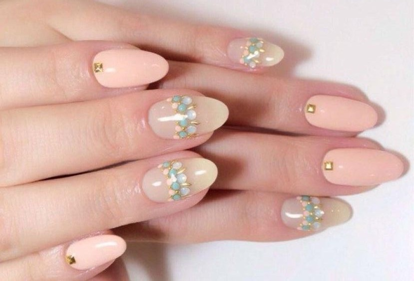 39 Pretty Almond Nails with Rhinestones - 40 Simple And Clean Almond Nail Designs Nail Design Ideaz