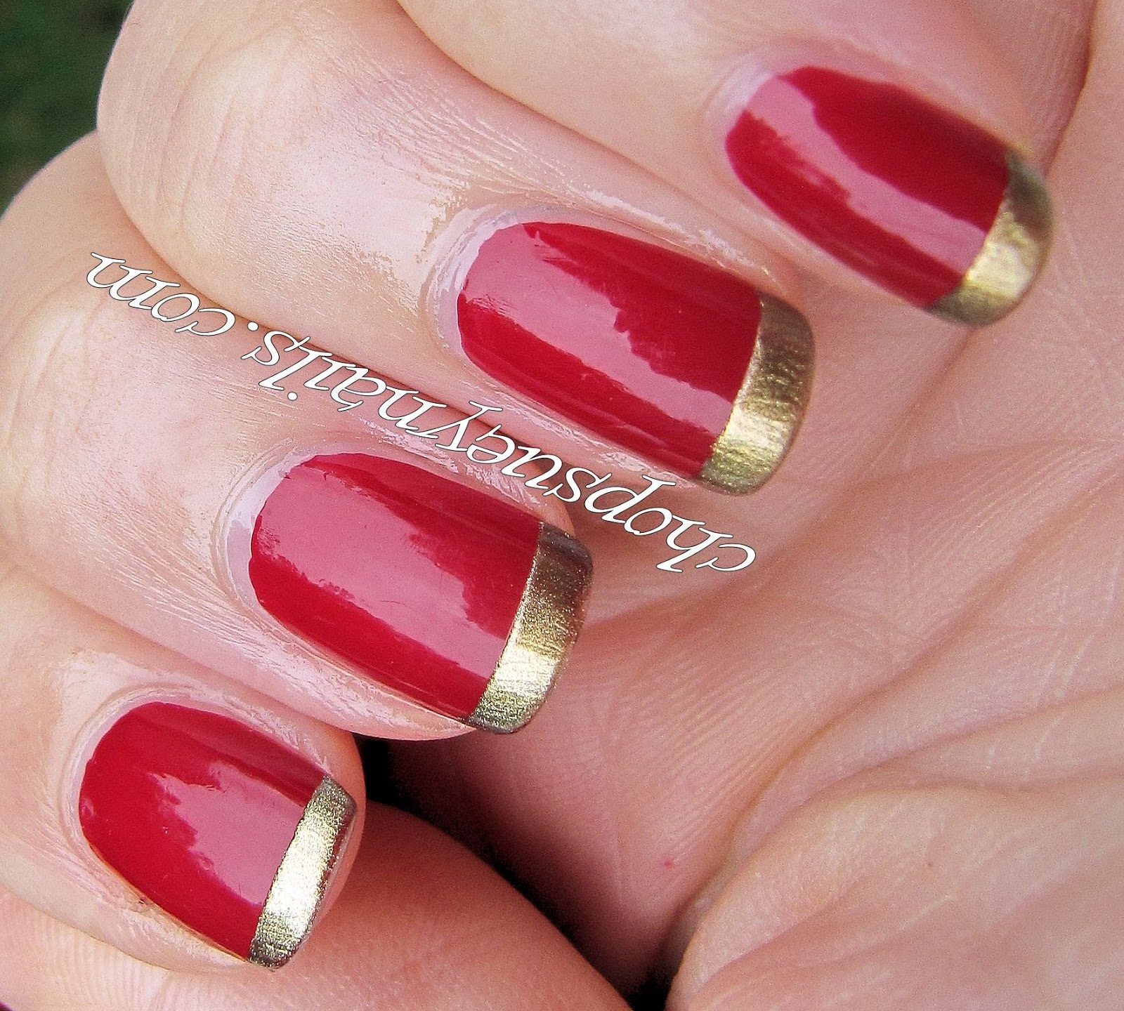 40 Flamboyant Red and Gold Nails | Nail Design Ideaz