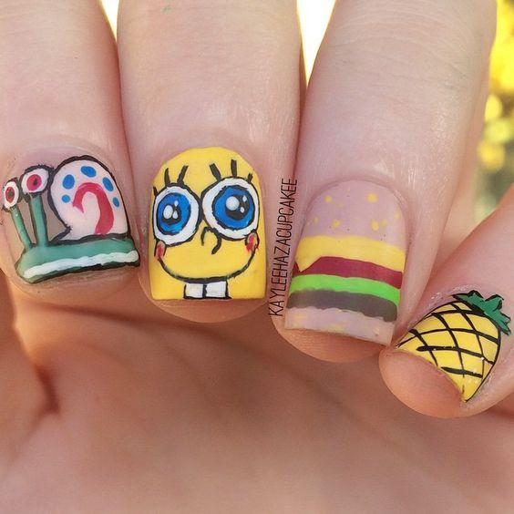 20 Spongebob Nails Straight From Bikini Bottom