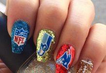 football nail designs