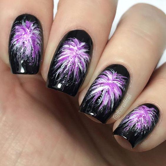 25 Festive Firework Nail Art
