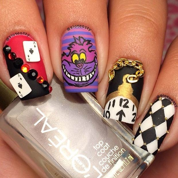 30 Disney Nail Polish Designs | Nail Design Ideaz