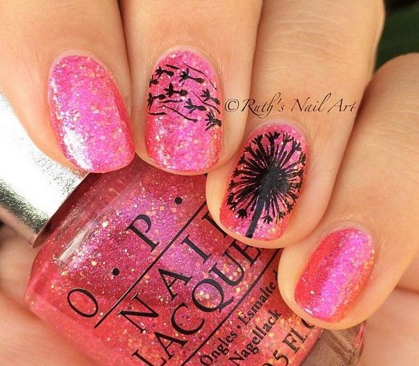 - 30 Stunning Pink And Black Nails Nail Design Ideaz