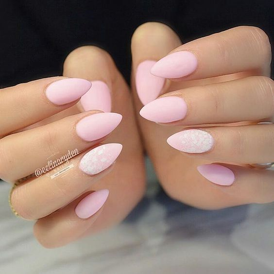 40 Simple And Clean Almond Nail Designs Nail Design Ideaz Page 22
