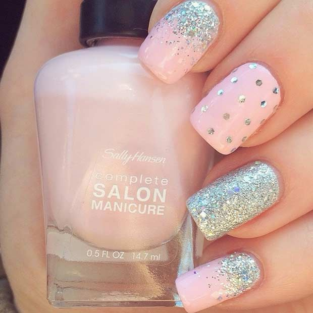 40 Nail Designs with Glitter and Bling | Nail Design Ideaz
