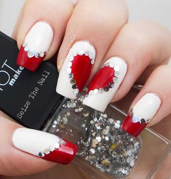 - 30 Lovely Valentine's Nails Nail Design Ideaz
