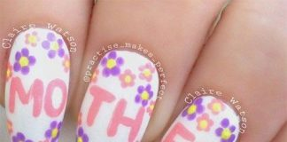 mothers day nail art