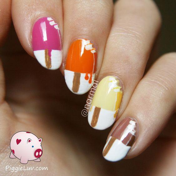 Cream Nail Art: 25 Delicious And Cute Ice Cream Nails