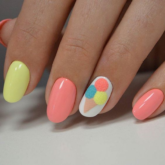 25 Delicious And Cute Ice Cream Nails Nail Design Ideaz