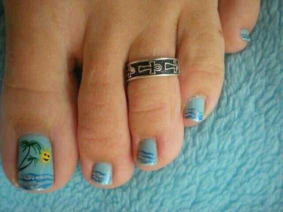 15 Summer Inspired Beach Toenail Designs Nail Design Ideaz