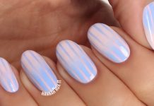 striped nail tutorial