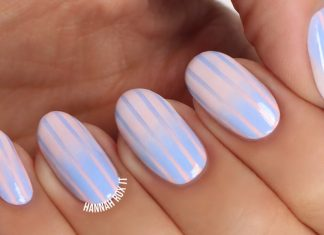 striped nail tutorial