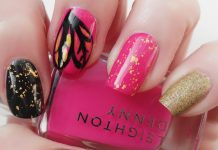 mismatched nail art