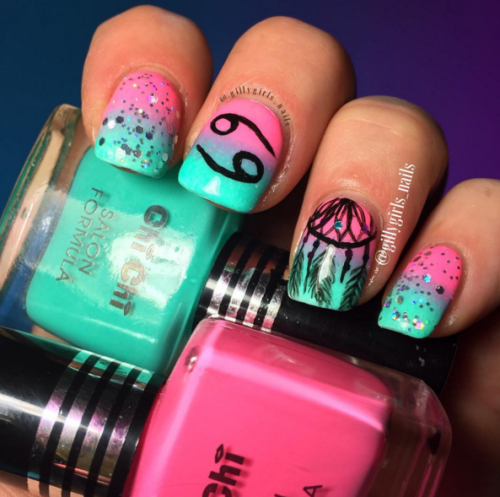 15 Great Cancer Nails You Can T Pass Up Nail Design Ideaz