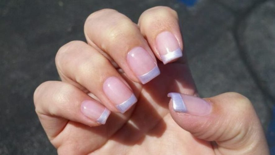 Simple But Pure Beauty Pearl Tip Nails
