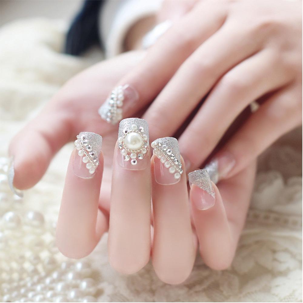 17 Classy Pearl Tip Nails | Nail Design Ideaz