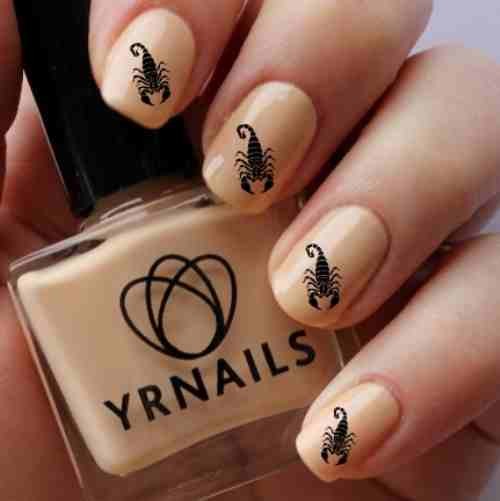 21 impressive scorpio nails youll totally adore nail design ideaz fat scorpion nail art decals prinsesfo Image collections