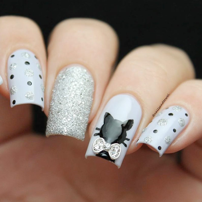 30 gorgeous grey nails to keep you in style nail design