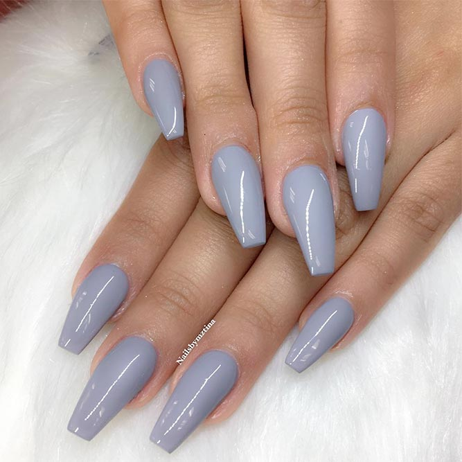 30 Gorgeous Grey Nails To Keep You In Style | Nail Design Ideaz
