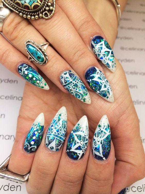 35 Carefree Boho Nail Designs Nail Design Ideaz