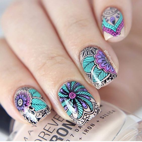 35 Carefree Boho Nail Designs Nail Design Ideaz