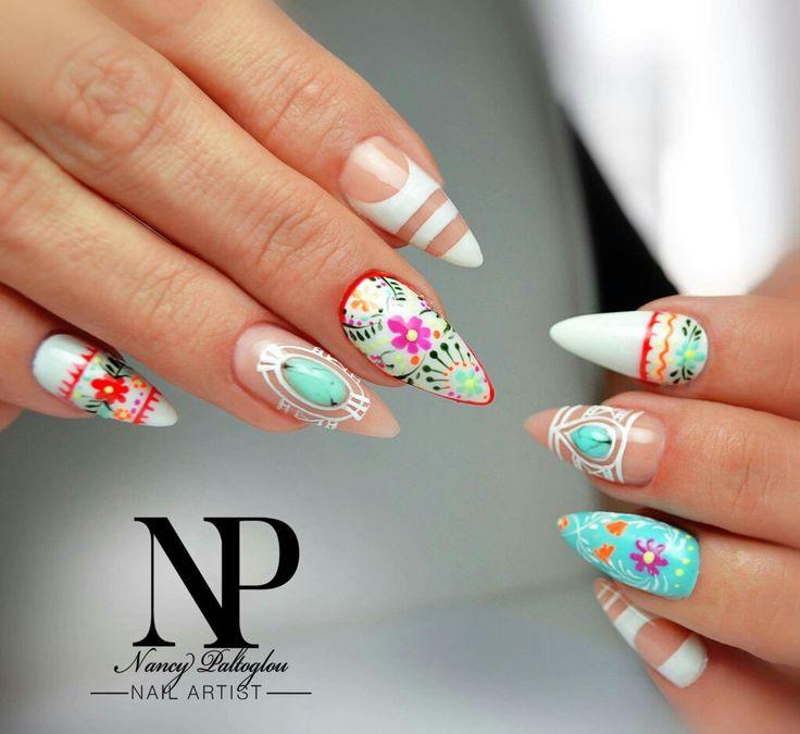 35 Carefree Boho Nail Designs
