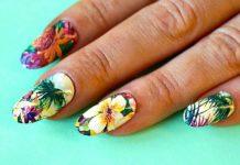 Colorful Tropical Nail Design