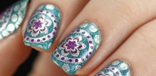 Metallic Boho Nails