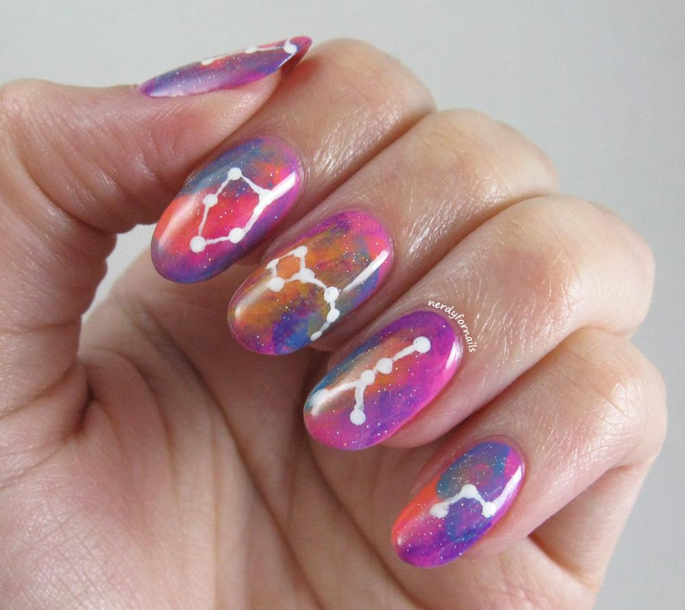 30 Dazzling Constellation Nail Designs | Nail Design Ideaz