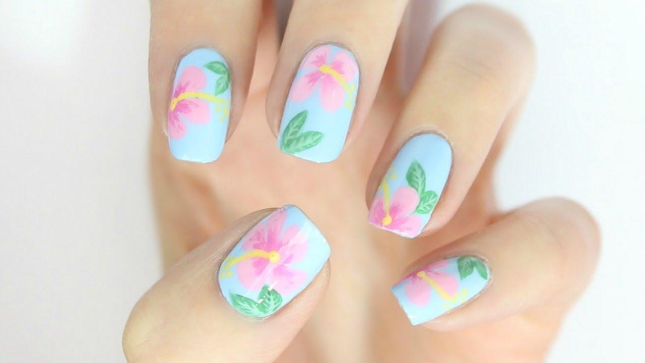 30 Youthful Tropical Summer Nail Designs | Nail Design Ideaz