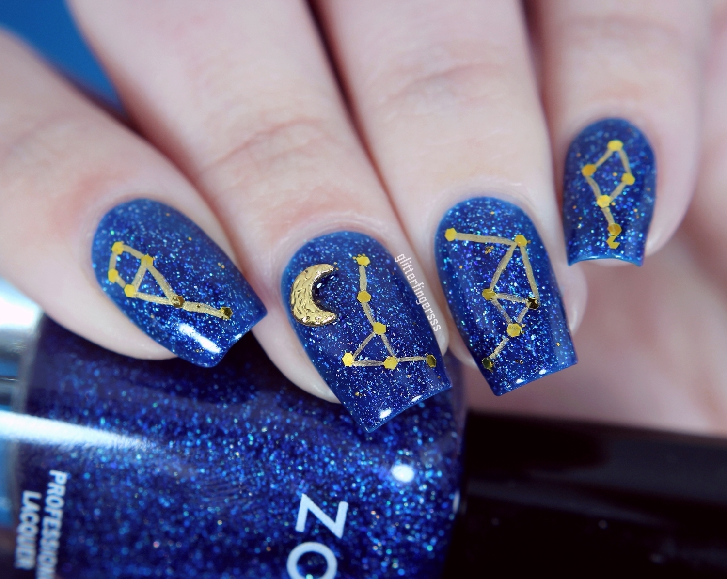 30 Dazzling Constellation Nail Designs Nail Design Ideaz
