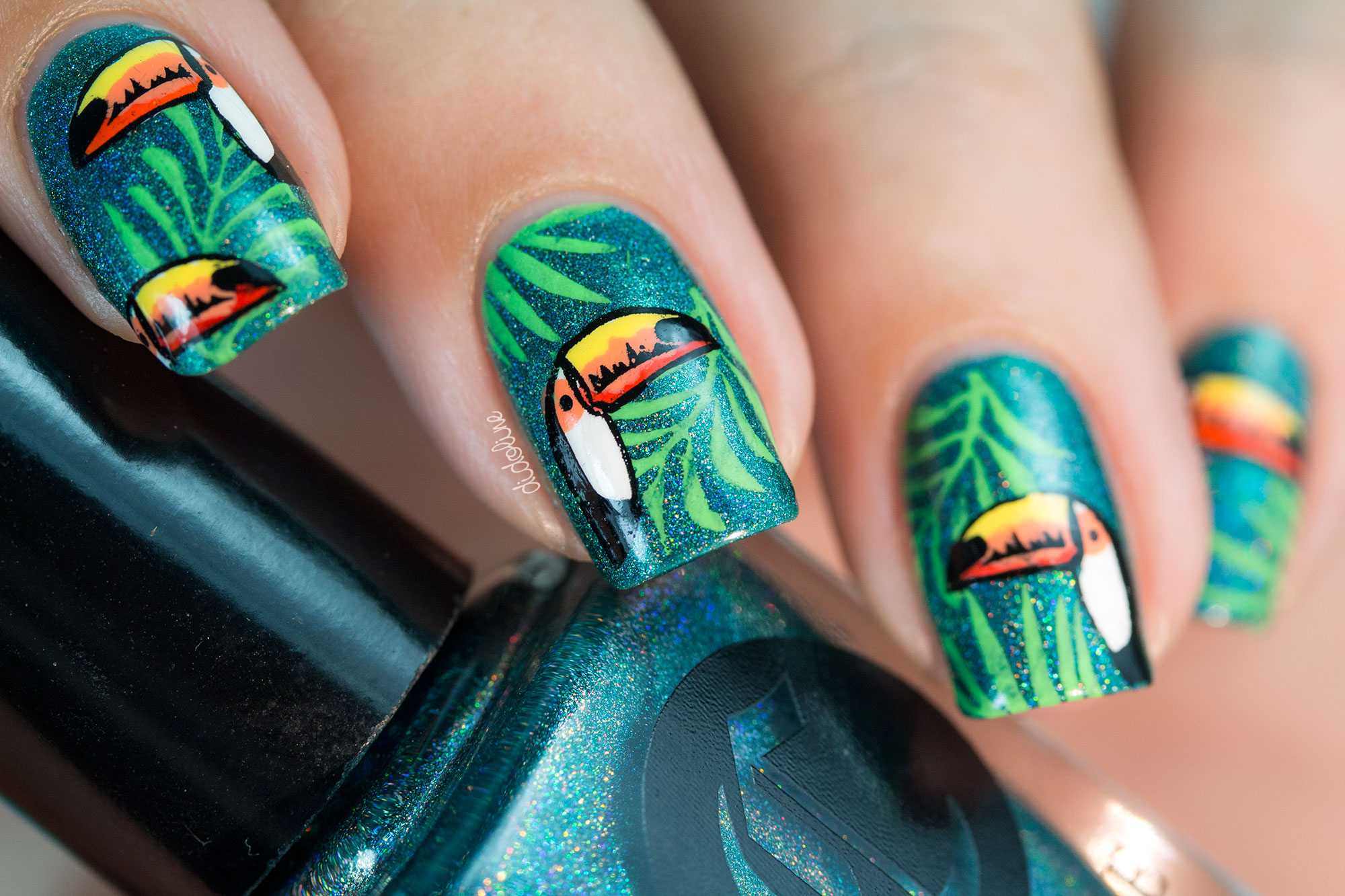 30 Youthful Tropical Summer Nail Designs Nail Design Ideaz