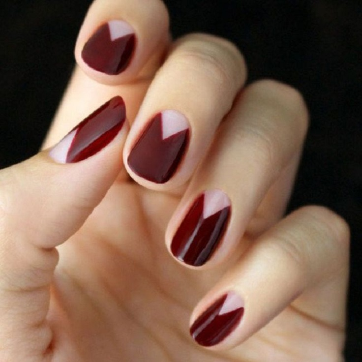 33Contemporary Triangle Nails Design - 40 Classy Minimalist Nail Designs Nail Design Ideaz