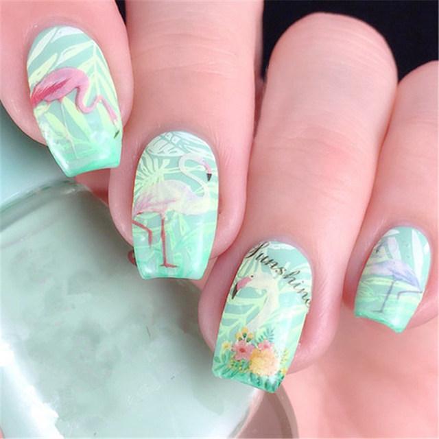 30 Perky Flamingo Nail Art Nail Design Ideaz