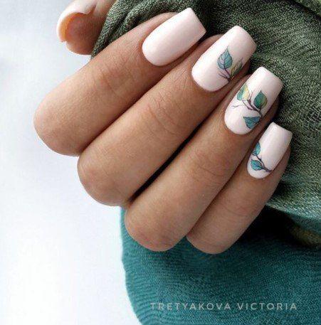 10Light Leaf Nail Design - 38 Refreshing Leaf Nail Designs Nail Design Ideaz