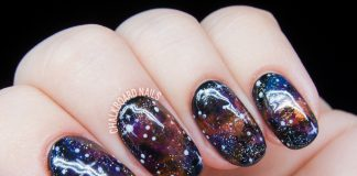 Jewel-Toned Galaxy Nails