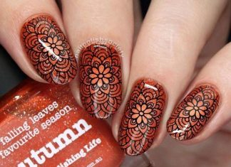 Mandala Floral Wave Nails