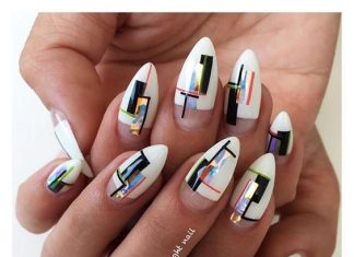 Modern Holographic Nail Art
