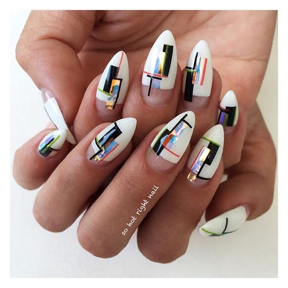 37modern Holographic Nail Art