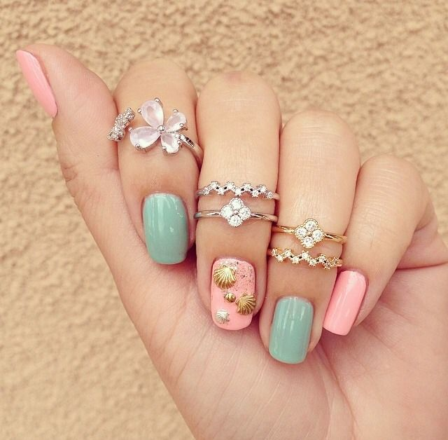 35 Pretty Seashell Nail Designs Nail Design Ideaz