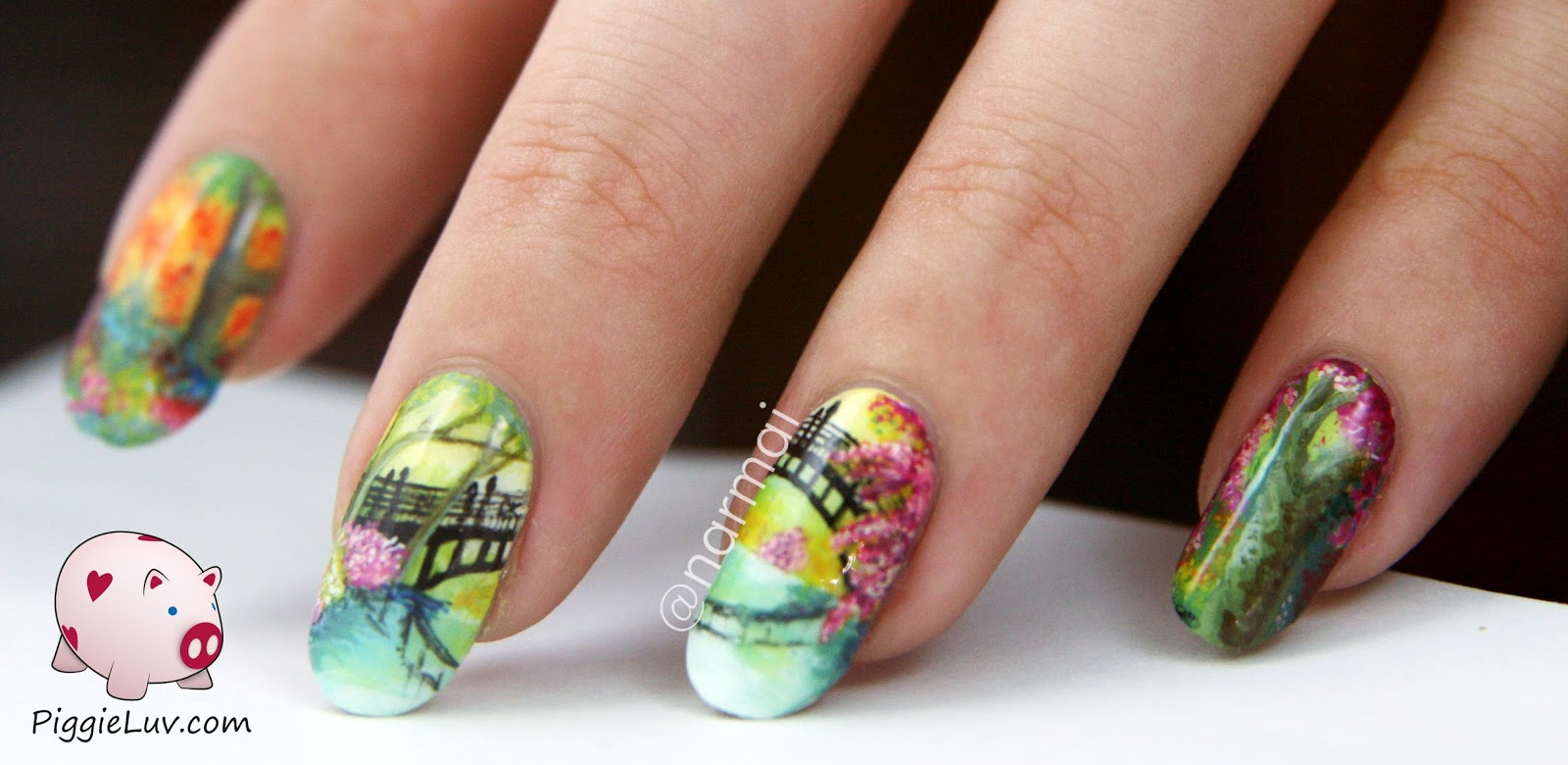 30 Picturesque Landscape Nails | Nail Design Ideaz