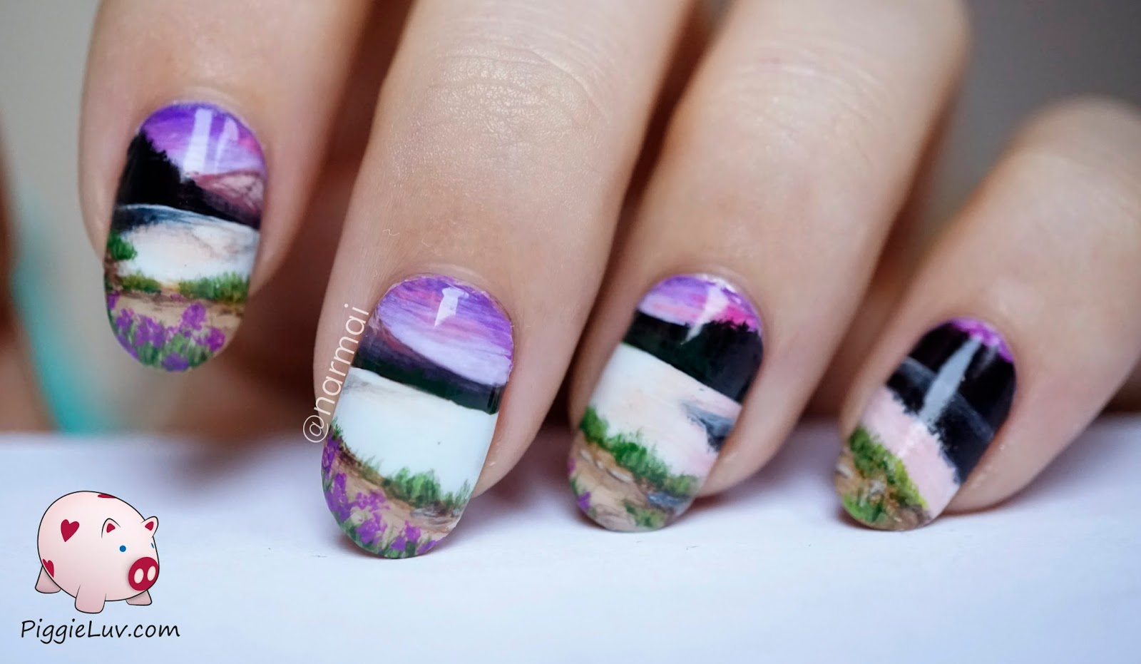 30 Picturesque Landscape Nails Nail Design Ideaz
