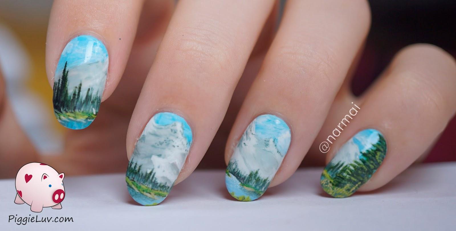 30 Picturesque Landscape Nails | Nail Design Ideaz
