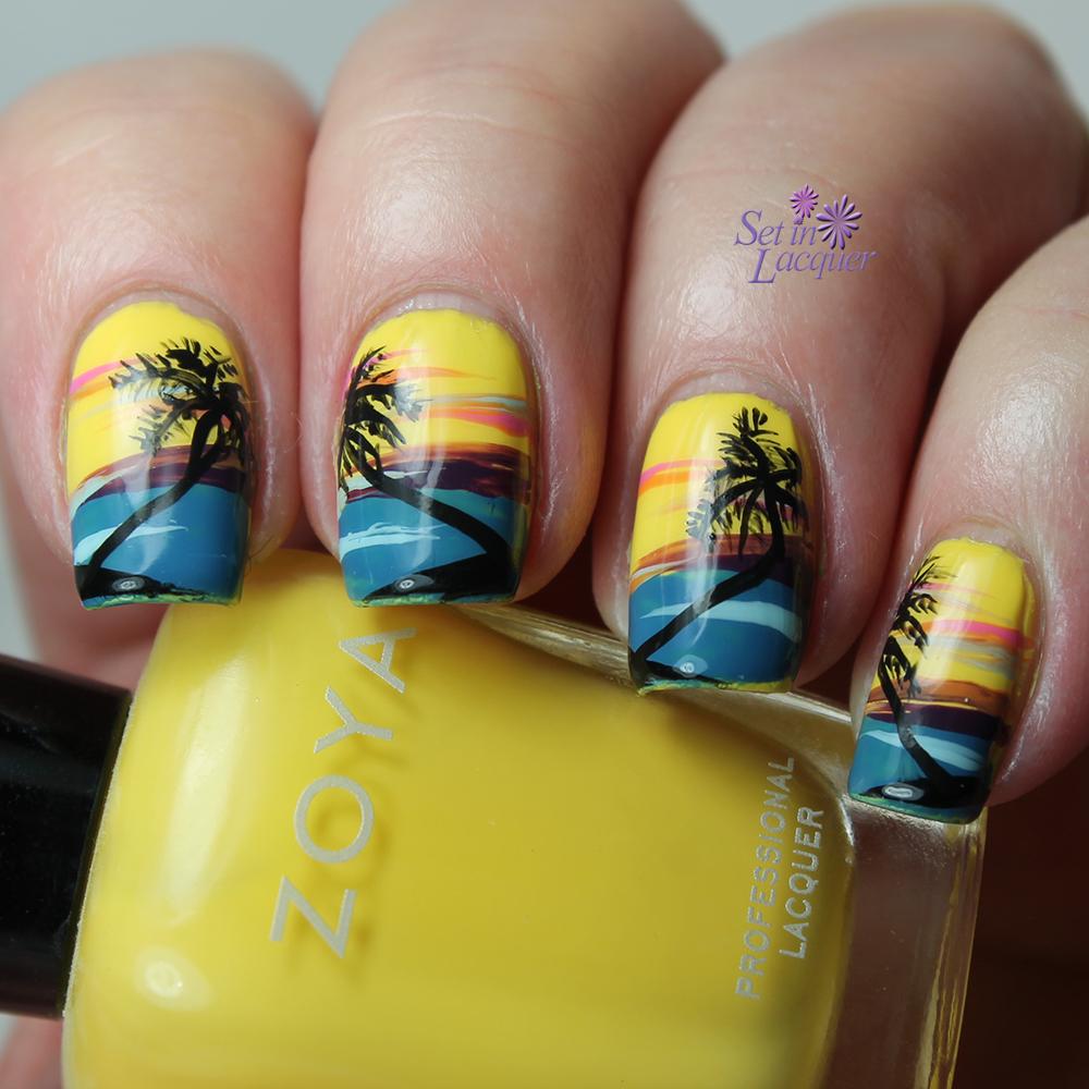 30 Picturesque Landscape Nails Nail Design Ideaz