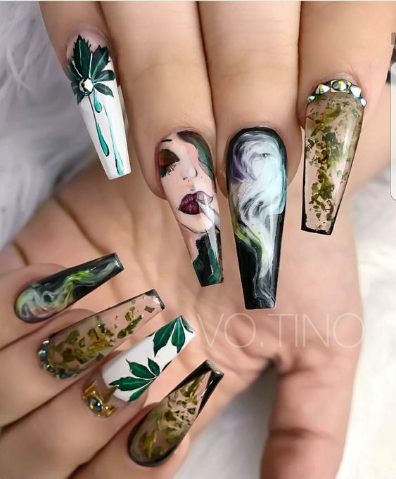 23Dope Pop Art Nails - 30 Classic Pop Art Nail Design Nail Design Ideaz