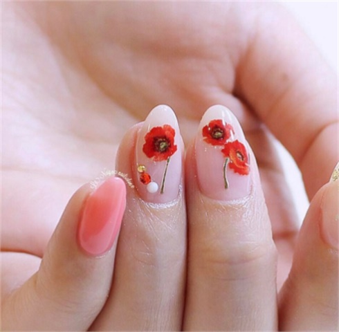 40Dried Peonies Nail Design - 40 Lovely Spring Nail Designs Nail Design Ideaz