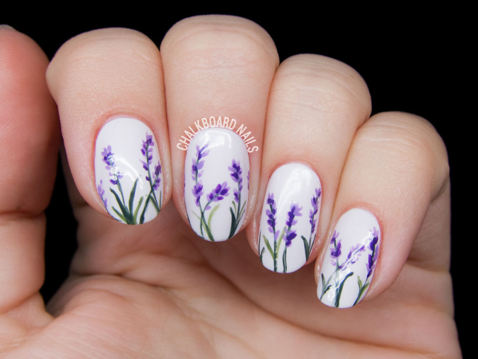7Lavender Blossom Flowers Nails - 40 Lovely Spring Nail Designs Nail Design Ideaz