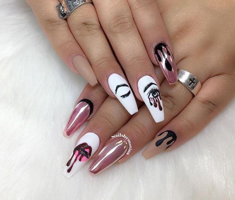 30 Classic Pop Art Nail Design Nail Design Ideaz